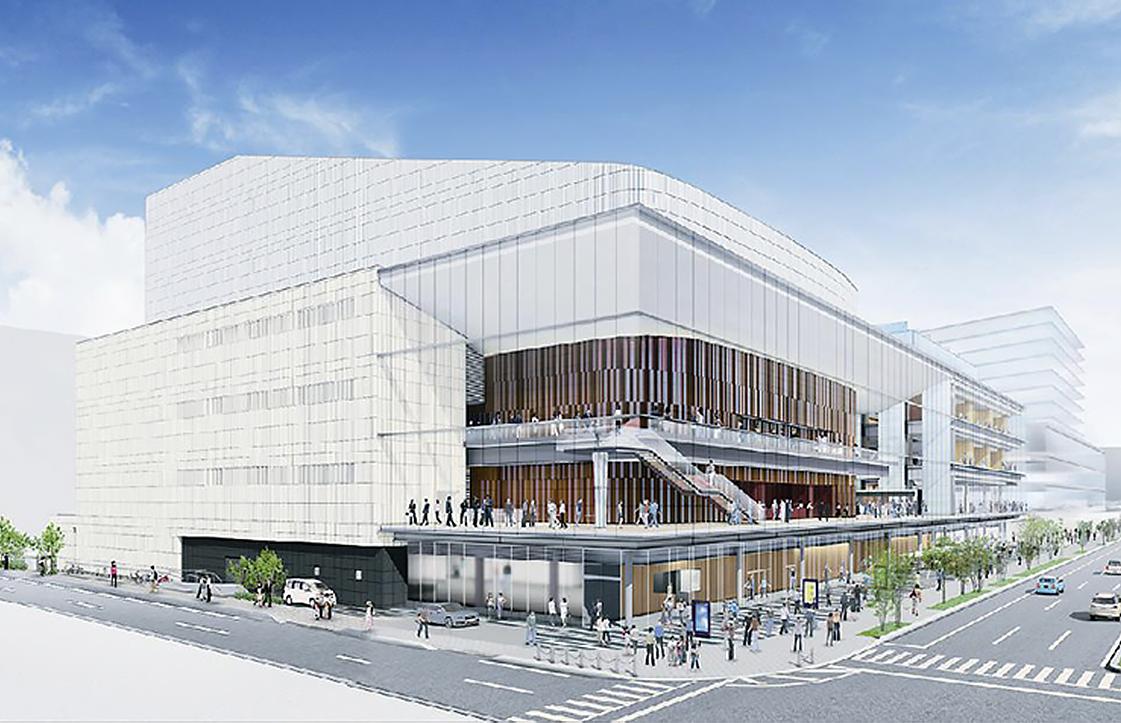 高崎文化芸術センター新築工事現場